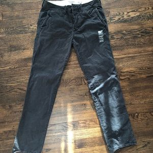 NWT Abercrombie & Fitch grey straight chino pants